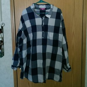 Woman Within Half Button Up Tunic 4X